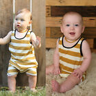 Sleeveless Newborn Baby Boy Girl Cotton Romper Bodysuit Jumpsuit Clothes Outfits