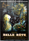 RR2013 THE BEAUTY AND THE BEAST Jean Cocteau Marais 47x63 french movie poster
