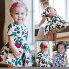 Pretty Toddler Baby Girls Summer Floral Dress Sundress Briefs Shorts Outfits US