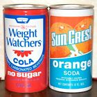 Vintage Weight Watchers  SunCrest Soda Cans Air filled Never Opened 1980