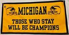 Michigan Wolverines NCAA Football Bo Schembechler Limited Edition Banner