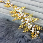 Wedding Bridal Vintage Gold Leaf Pearl Crystal Tiara Headpiece Hair Piece Party