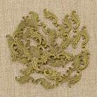 Brass Leaf Shaped Stamping Scrapbooking Filigree Embellishment Diy Crafts