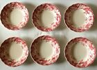Johnson Brothers Strawberry Fair Dessert Berry Fruit Bowls Set of 6 5-1/8