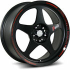 Katana K121 16x7 4x100 4x1143 4x45 +40mm Black Wheels Rims K121 6701MB