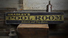 Pool Room Custom Name Man Cave Rustic Distressed Wood Sign ENS1001408