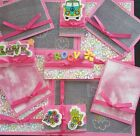 Premade Scrapbook Page Embellishment Kit SEWN 12 pieces Groovy
