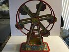 VINTAGE 1930S J CHEIN WINDUP TIN TOY LITHO FERRIS WHEEL HERCULES WORKS GREAT