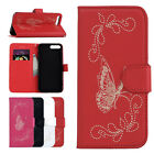 Patterned PU Lether Wallet Flip Stand Card Slot Case Cover For Samsung Galaxy
