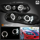 For 1998 2002 Chevy Camaro Black LED Halo Projector Headlights Lamps Left+Right