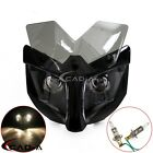 With 35-54mm Bracket Motorcycle Fairing Headlight Street Fighter Naked Dominator
