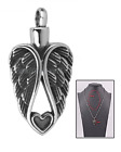 My Guardian Angel Heart Cremation Jewelry Ashes Keepsake Memorial Urn Necklace