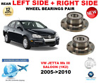 FOR VW JETTA III REAR WHEEL BEARINGS PAIR 2005 2010 1K2 SALOON LEFT and RIGHT