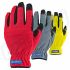 Firm Work Gloves Safety Size Large 3 Pairs Outdoorworkgarden Pad New