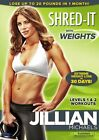 JILLIAN MICHAELS SHRED IT WEIGHTS New Sealed DVD