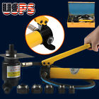 15Ton Driver Hydraulic Tool Kit 10 Dies 16 101mm Knockout Punch Set with Case US