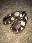 Faded Glory Toddler Boys Brown Easy Fasten Sandals Size 2