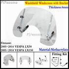 Motorcycle Flyscreen Windshield Fits Vespa LX150 LX50 2005 2014 With Fitting Kit