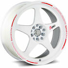 Katana K121 16x7 4x100 4x1143 4x45 +40mm White Wheels Rims K121 6701GW