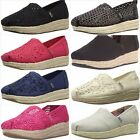 BOBS from Skechers New Womens Highlights Flexpadrille Wedge Flats Size 5 11