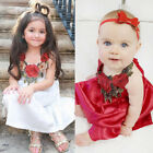 Toddler Kids Baby Girls Party Flower Dress Pageant Clothes Summer 6M 5T US Stock