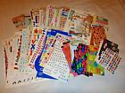 Scrapbooking Stickers Lot Numbers Letters  Sayings 150+ sheets 15+ vellum