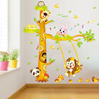 USA Jungle Animals Monkey Tree Wall Sticker Decals Kids Baby Room Decor Mural cl