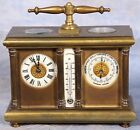 Antique French Compound Carriage Clock with Barometer and Thermometer