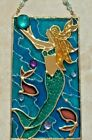 Mermaid Suncatcher Stained Art Glass Gift Beach Window Hanging Panel Ornament