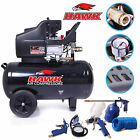 HAWK TOOLS 50l 2.5 HP ENGINE AIR COMPRESSOR & 5 PIECE ACCESSORY TOOL KIT