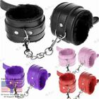 Pink Red Handcuffs Faux Leather Sex Slave Hand Ring Ankle Cuffs Restraint Toy