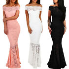 Off Shoulder Formal Wedding Evening Cocktail Party Maxi Dress Mermaid Long Gown