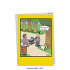 C4859BDG Dog Graffiti Funny Birthday Greeting Card with Envelope