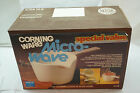 CORNING WARE COOK N POUR VESSEL 1 QT COVERED PAN HANDLE GLASS LID MICROWAVE MIB