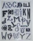 NEW  Prima Clear Stamps 1 3 Uppercase Alphabets Timbres Transparents