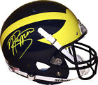 Jabrill Peppers signed Michigan Schutt Rep Full Size Helmet yellow sig on side