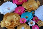 Set of 20 Paper Flowers for Wall Dcor BackdropsWeddingsShowers decoration