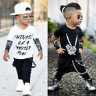 US Newborn Toddler Infant Baby Kids Boys Clothes T shirt Tops+Pants Outfits Set
