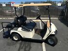 white 2002 ezgo street legal 4 Passenger golf cart 36 volt with ca title