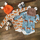 USStock Infant Baby Girl Boy Cotton Romper Jumpsuit Bodysuit Outfits Clothes