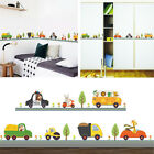 US Animal Car Wall Stickers for kids Room Baby Boy Bedroom Wall Decals Decor Set