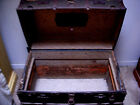 ANTIQUE VINTAGE WOODEN STEAMER TRUNK CHEST unrestored 22W x24H x36L