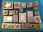 Lot of 21 rubber stamps Penny Black Stampendous Comotion Rubber Stampede
