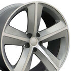 20x9 Wheels Fit Chrysler Dodge Challenger SRT Silver Machd Rims 2357 W1X SET
