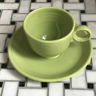 Vintage Fiesta Chartreuse Coffee Cup and Saucer Set MINT & Flawless