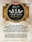 2017 Topps Tier One Baseball FACTORY SEALED Hobby Box Free S&H 3 Hits