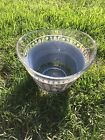 Jeanette Grecian large glass Slate Wedgewood Blue Bowl Chip/Small Punch Bowl GC
