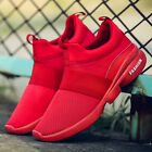 Summer Mens Mesh Shoes Slip On Sports Running Shoes Breathable Casual Sneakers