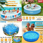 Large Inflatable Swimming Pool Center Lounge Family Kids Water Play Fun Backyard