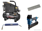 Sealey Compressor 6ltr + Nailer/Stapler + Suzi Hoze + 5000 Nails